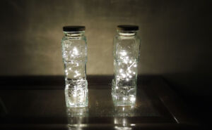 2 beautiful tall jar with nice LED lights
