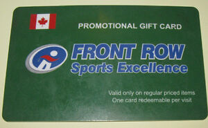Front Row Sports Gift Card Value $581