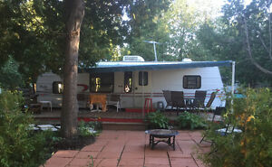 30 foot Jayco trailer on beautiful corner lot