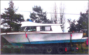 34 foot Sedan Trawler Recreation Boat