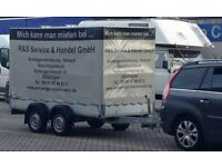 STEMA Double Axle Braked German Trailer H 1.8m L 2.2 m W 1.6 m - heavy duty cover - 6 months old