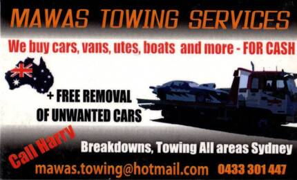 Towing Service,  And Cash For Unwanted Cars, tow truck