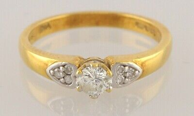 Secondhand 18ct Yellow Gold Multi Diamond (0.25pts) Ring Size M