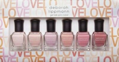 Deborah Lippmann Nail Polish Gel Lab Pro Make Me Blush (Set of 6) Love Pinks NIB