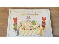 brand new and sealed pack of 4 table mats, from the prince's trust