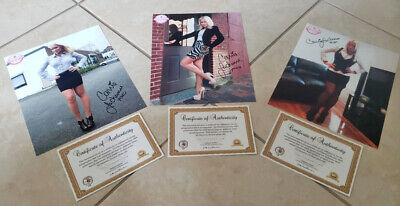 Lot of 3: Carrie LaChance Autographed/Signed Sexy 8x10 Photo +COA's for each