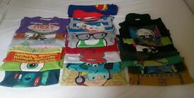 22 Boys tops bundle, short and long sleeve 4-5 years