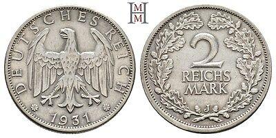 HMM - Weimarer Republik 2 Reichsmark 1931 J Kursmünze J. 320 - 161017015