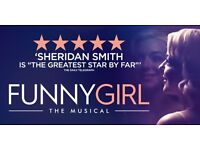 3 x Tickets to Funny Girl the Musical Starring Sheridan Smith, at Birmingham Hippodrome