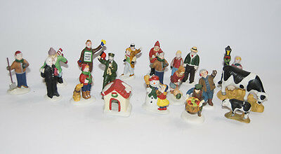 Lemax Mixed Lot of Holiday Village Christmas Figurines Figures Porcelain