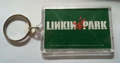 AS-IS LINKIN PARK GREEN ORANGE BAND NAME MUSIC WHITE KEY CHAIN KEYCHAIN