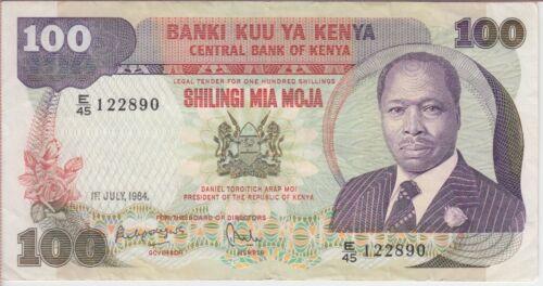 KENYA BANKNOTE P23c-2890  100 SHILLINGS  1984, VF+