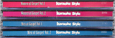 Women And Men Of Gospel SET Of 4 Karaoke Style NEW CD+G Daywind 24 Songs for sale  Shipping to Canada