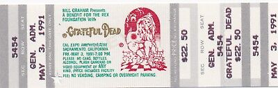 """GRATEFUL DEAD UNUSED TICKET  05-03-1991  CAL EXPO  """"MAIL ORDER""""  MINT"""