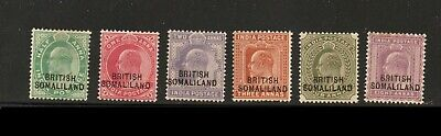 BRITISH SOMALILAND (Scott #1, 2, 3, 5, 6, 7) 1903 MH Stamps