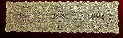 Lace Table Runner Antique Gold Savoy 14.5