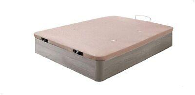 Canapé abatible Madera. Tapa 3D, válvulas transpiración.Roble Cambrian. 150x200