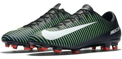 d03124a58 Nike Mercurial Veloce III FG Soccer Cleats Black Green 847756 013 Men s 13  New