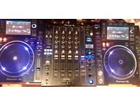 Pioneer cdjs plus mixer nexus2 kit
