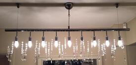 Dwell hanging crystal pendant light fitting reduced
