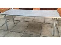 aluminium gopak table 6foot long folding very rare to find 6ft all ally table ideal fairs / patio
