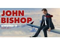 £45 each. 2 x Row L tickets for John Bishop @ Playhouse Sunday 19th November