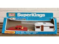 -BOXED- LESNEY MATCHBOX SUPER KINGS -CARAVAN TOURING SET- K-69 JAGUAR XJ12 & EUROPA like CORGI/DINKY