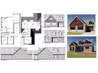 Architectural design services, Planning Applications, Building Regulations drawings
