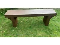 Large Chunky Bench Very Heavy 59 Inch Long