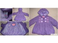 TU girls fleece-lined coat size 1.5-2 years