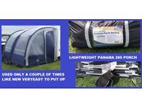 Caravan Awning Towsure Panama 260 Porch Awning Light Weight BARGAIN.