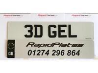 Replacement Number Plates -Tinted - Cherished / Private Reg - 3d Gel Domed Car Van Bike Trailer Quad