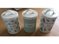 Kitchen tea coffee sugar tins