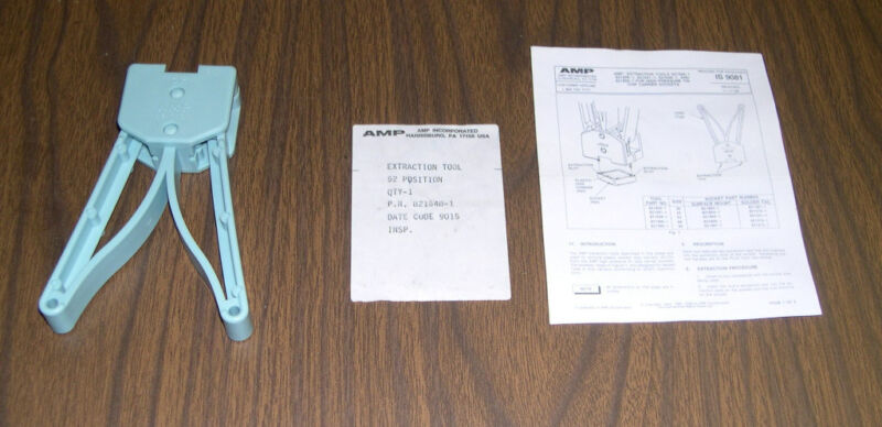 AMP extraction tool for 52 position PLLC socket. Mfg by AMP. NEW, NOS.