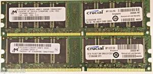 2 GB (2X1GB) LOW DENSITY DDR PC-3200U Non-Ecc 400 MHZ 184 PIN CL3 RAM MEMORY