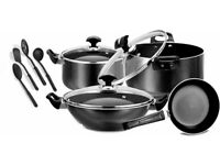 NON STICK Cookware Gift Set Utensils Kitchen FryPan Casserole Cooking Wok 11pcs