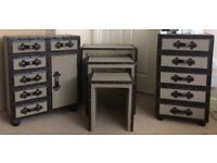 Vintage Drawers and side tables
