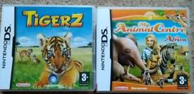 2 Nintendo DS games - Tigerz and My Animal Centre in Africa