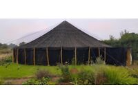 Unique large black Moroccan tent for hire for parties, wedding and events.