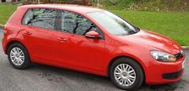 2010 VW Golf Diesel Red