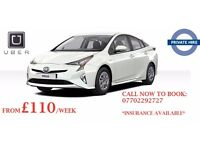 PCO CAR RENTAL,PCO CAR HIRE, UBER READY, PCO, TOYOTA PRIUS FOR RENT/HIRE FROM £110/WEEK - LONDON PCO
