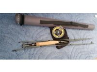 Fly Rod greys gx50 8.6 #5 with greys reel gx300 with floating line. Bargain.
