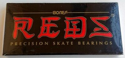 8 PACK BONES REDS SKATE BEARINGS skateboard longboard scooter wheel inline 608rs