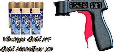 Performix Plasti Dip Premium Wheel Kit 4 Vintage Gold 3 Gold Metalizer Can Vgrip