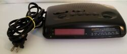 GPX Dual Alarm AM/FM Clock Radio Black Model D604D Digital Red LED Display