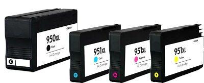 4PK 950XL 951XL Ink Cartridges for HP Officejet Pro 8100 8600 8610