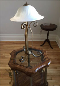 Vintage Italian Table Lamp -Iron and glass-