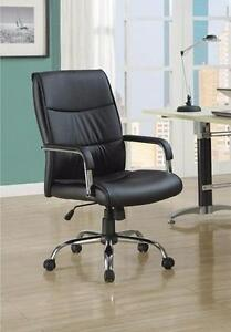 MEUBEL.CA   $189 - BLACK LEATHER-LOOK OFFICE CHAIR