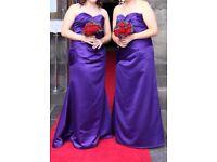 Cadbury purple bridesmaid or prom dress