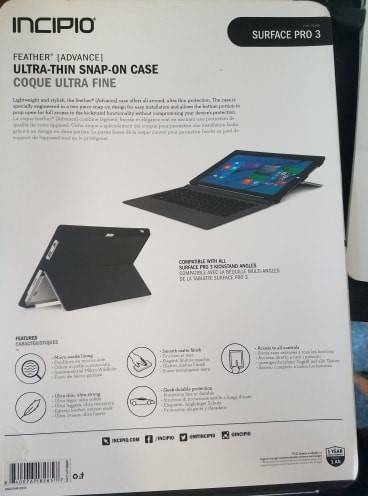 size 40 c78ae d3806 incipio SURFACE PRO 3 ULTRA THIN SNAP ON CASE coque | Tablet ...